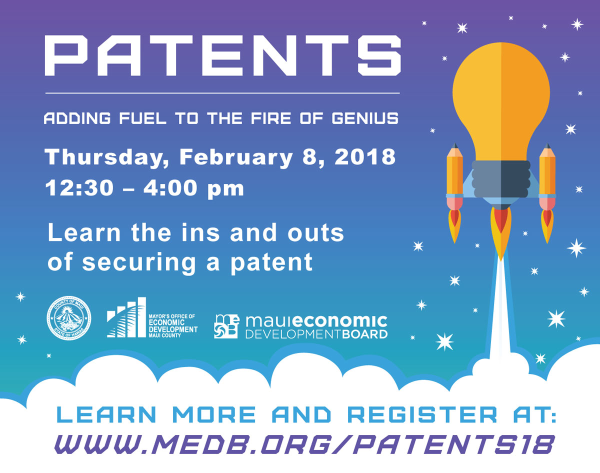 Patents adding fuel to the fire of genius focus maui nui dont miss this opportunity to engage palo alto patent attorney dr victoria brewster in an informal round table discussion on the ins and outs of publicscrutiny Images