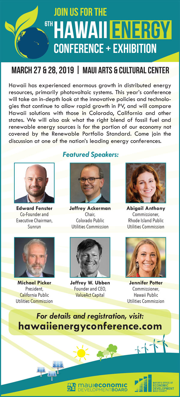 Join Us for the Hawaii Energy Conference & Exhibition
